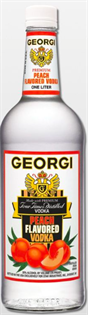 Georgi Vodka Peach 1.00l - Case of 12